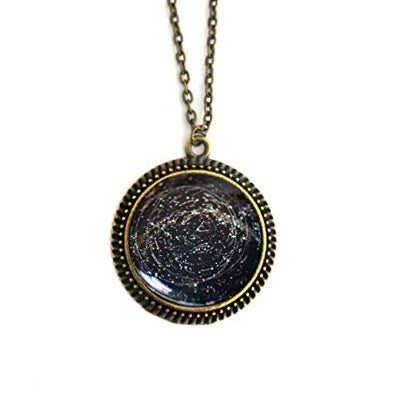 Star Chart Pendant Necklace