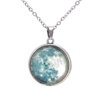 Double sided Moon Phase Necklace