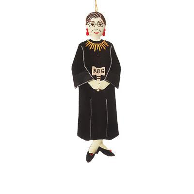 Ruth Bader Ginsburg Ornament - Red
