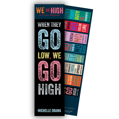 We Go High Quote Bookmark - Set of 8