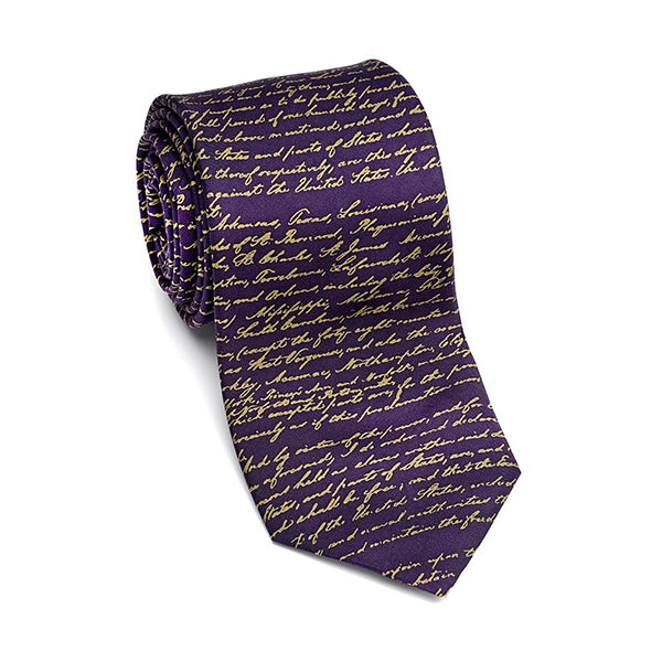 Emancipation Proclamation Tie - Purple