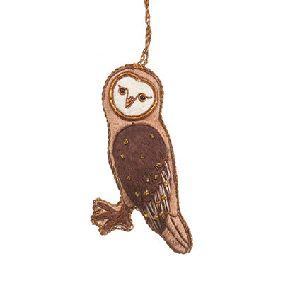Light Brown Owl Ornament
