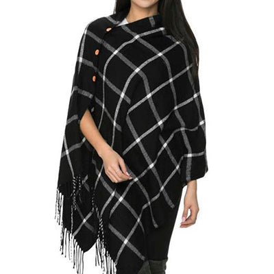 Black and White Plaid Wrap
