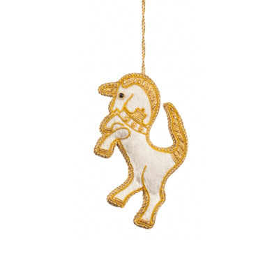 White Unicorn Ornament