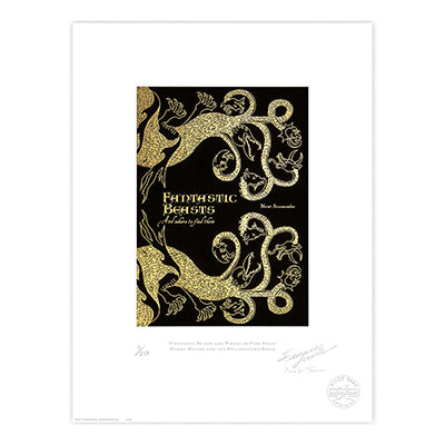 Fantastic Beasts Book Cover Limited Edition Print