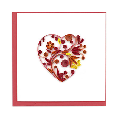 Heart Quilling Notecard