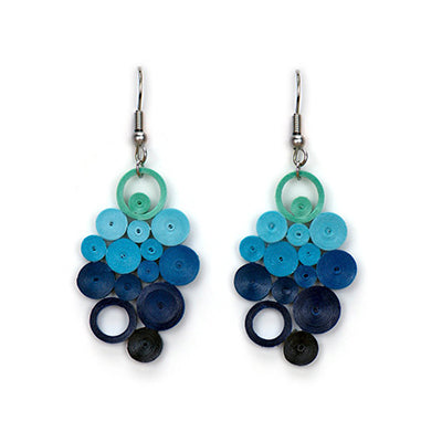 Indigo Ombre Quilling Earring
