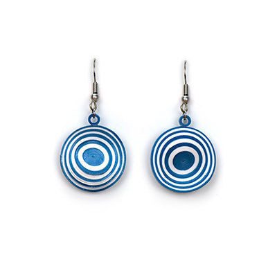 Blue Illusion Quilling Earring