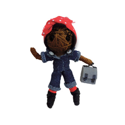 Rosie the Riveter African American String Doll
