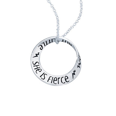 She is Fierce Quote Necklace