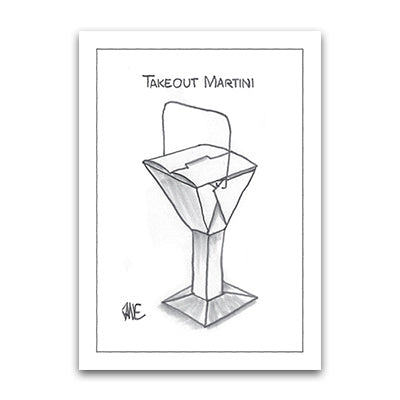 Takeout Martini Notecard
