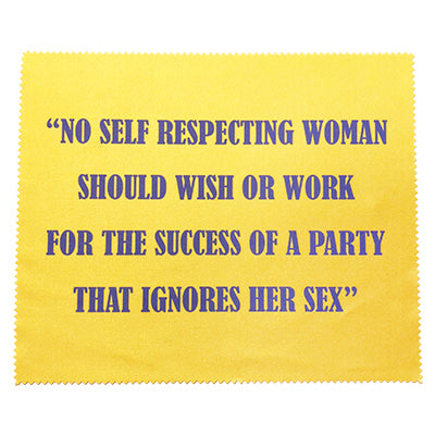 National Woman's Party Quote Lenscloth