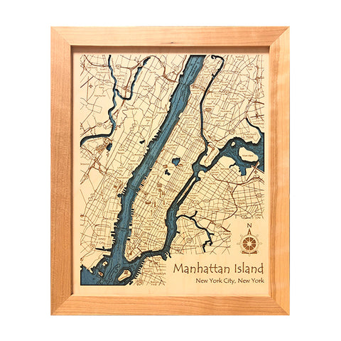 Hudson River Manhattan Island Wall Art LG