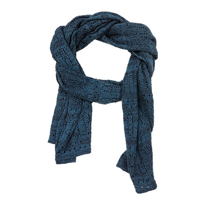 Denim Wool Knitted Scarf