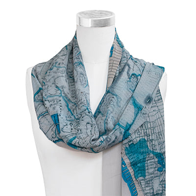 Topographical Map Scarf