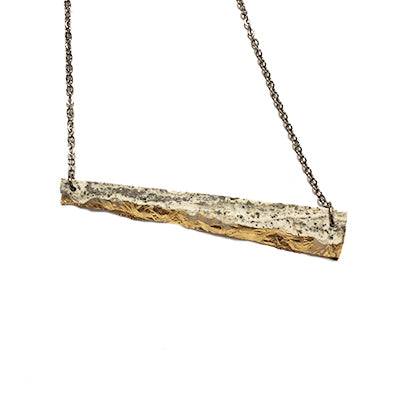 Concrete Offset Bar Necklace