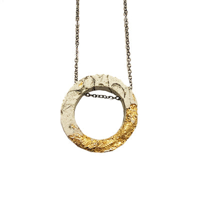 Concrete Fracture Circle Necklace