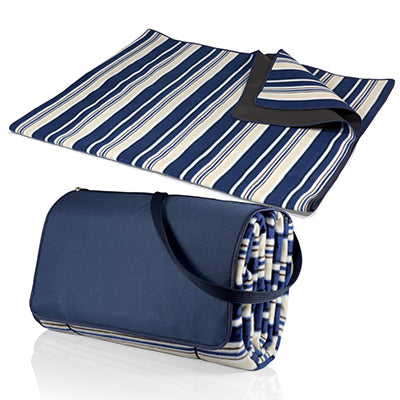 Blue Stripe Picnic Blanket
