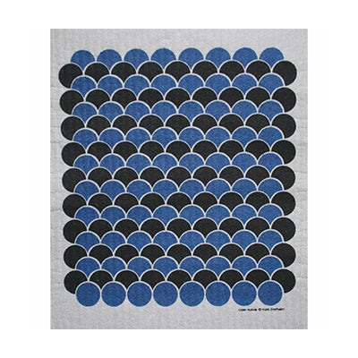 Scallops Blue Black Dish Cloth