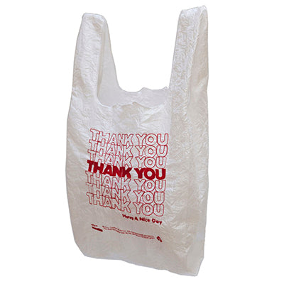Red on White Thank You Tote