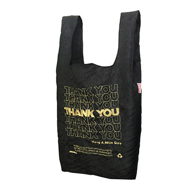 Gold on Black Thank You Tote