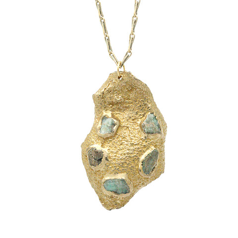 Mosaic Solo Pendant Necklace