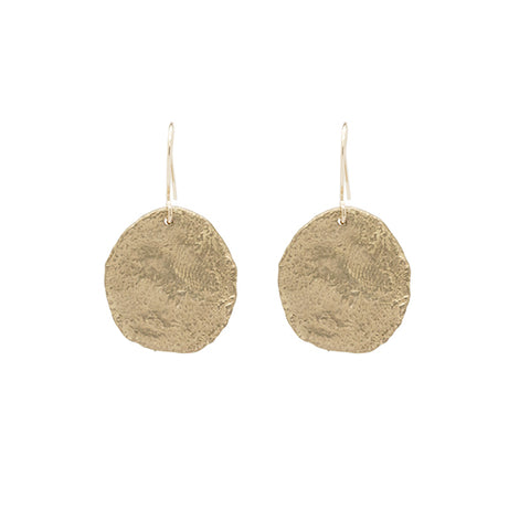 Moonscape Gold Brass Earrings