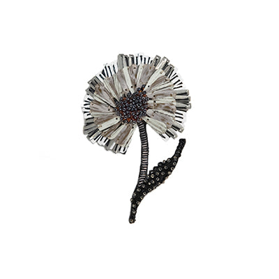 Ruffle Flower Brooch Pin