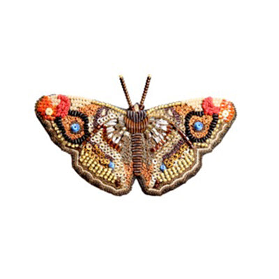 Apatura Iris Butterfly Brooch Pin