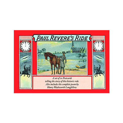 Paul Revere's Ride Postcard Book