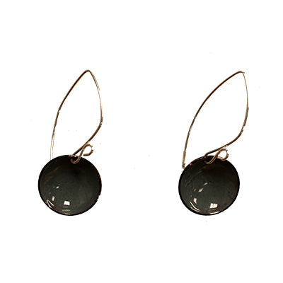 Slate Gray Domed Earrings