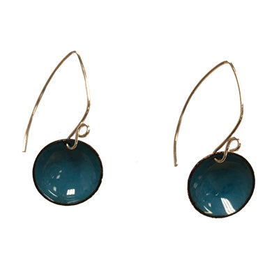 Sea Blueberry Domed Earrings
