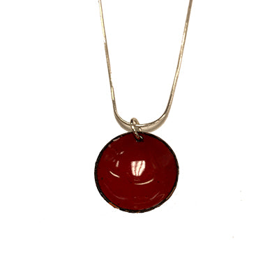 Wild Cherry Domed Necklace