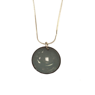 Slate Gray Domed Necklace
