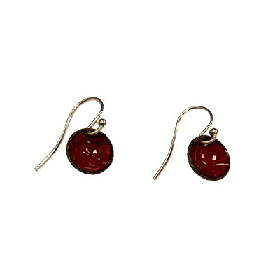 Wild Cherry Domed Earrings