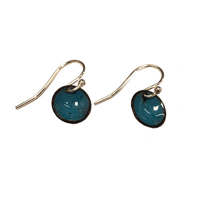Sea Blue Domed Earrings