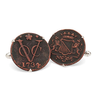 VOC Dutch East India Coin Cufflink