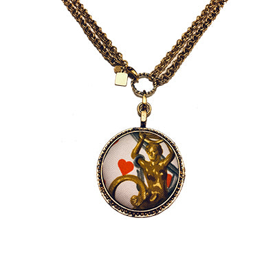 Scarf Medallion with Convertible Necklace