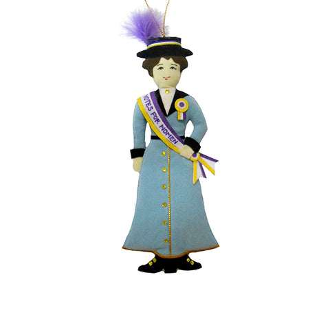 Suffragist Ornament - Light Blue