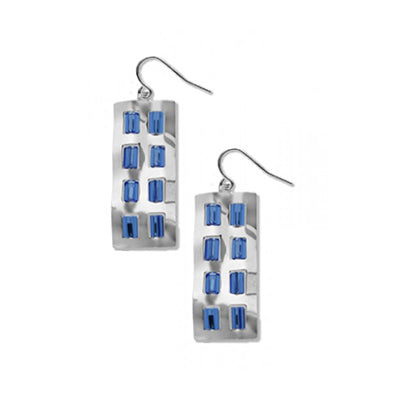 Crumpled Facade Saphire Earrings