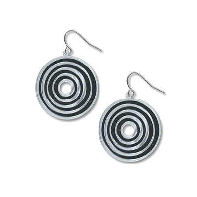 Op Art Target Earrings