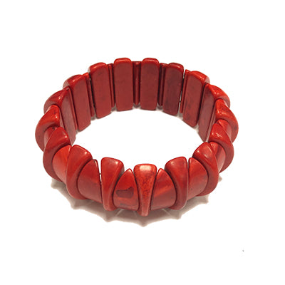 Red Half Moon Howlite Bracelet