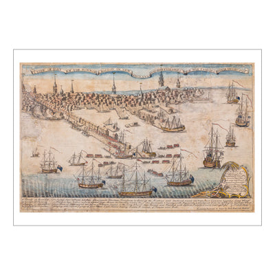 British Ships of War Print 11 x 14