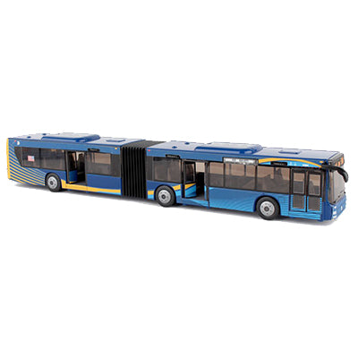 Blue MTA Articulated Bus