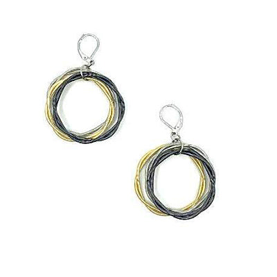 Multi Twist Loop Piano Wire Earrings