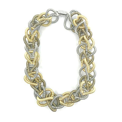 Multi Chain Link Piano Wire Necklace
