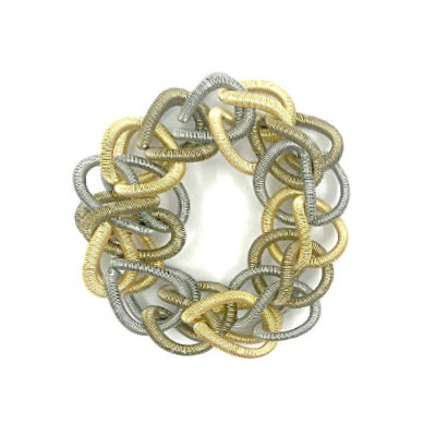 Multi Chain Link Piano Wire Bracelet