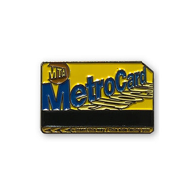 Metro Card Enamel Pin