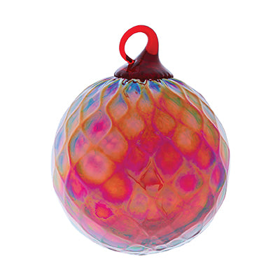 Garnet Red January Glass Ornament