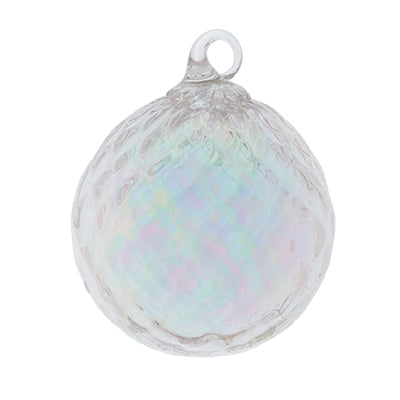 Clear Diamond April Glass Ornament